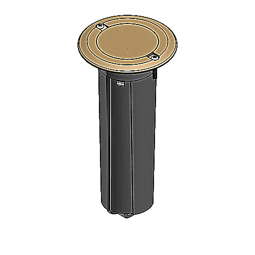 Carlon E971fbdib 2 1 Gang Drop In Round Floor Box W Brass