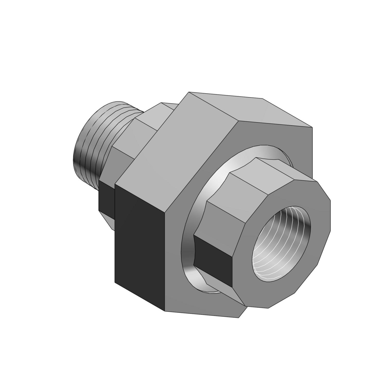 T&B® EXMU-2 EX Series 3-Piece Male to Female Conduit Union, 3/4 in, Die Cast Aluminum/Steel, Aluminum Lacquered