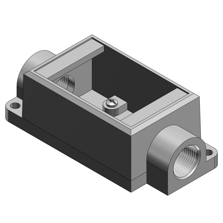 T&B FSC1-TB 1G 1/2 SHALLOW BOX