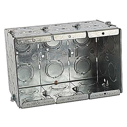 Steel City GW-335-G 3-Gang Masonry Box