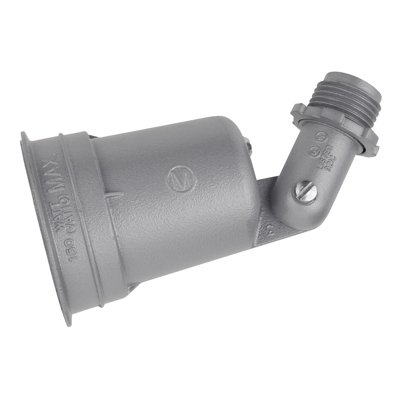 S500EG RED DOT 1-LAMPHOLDER SILVER W/GASKET 04226900711