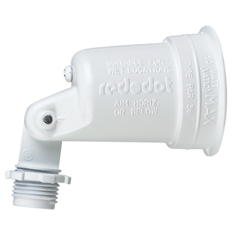 S500WHE-RL RED DOT LAMPHOLDER WHITE