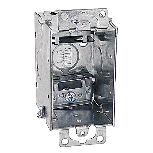 Steel City LXOW-25 2 1/2 in. Deep Gangable Switch Box, Armored Cable/Metal Clad Clamps