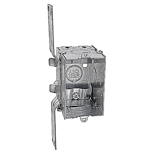 Steel City LXWV-25 2 1/2 in. Deep Gangable Switch Box, Non-Metallic Sheathed Cable Clamps, CV Bracket