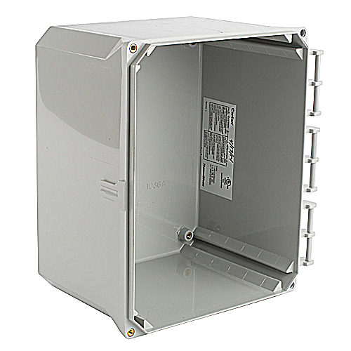 Carlon NL1086B Carlon, Electrical Enclosure Box, 10x8x6, Box Only, External Hinge Style