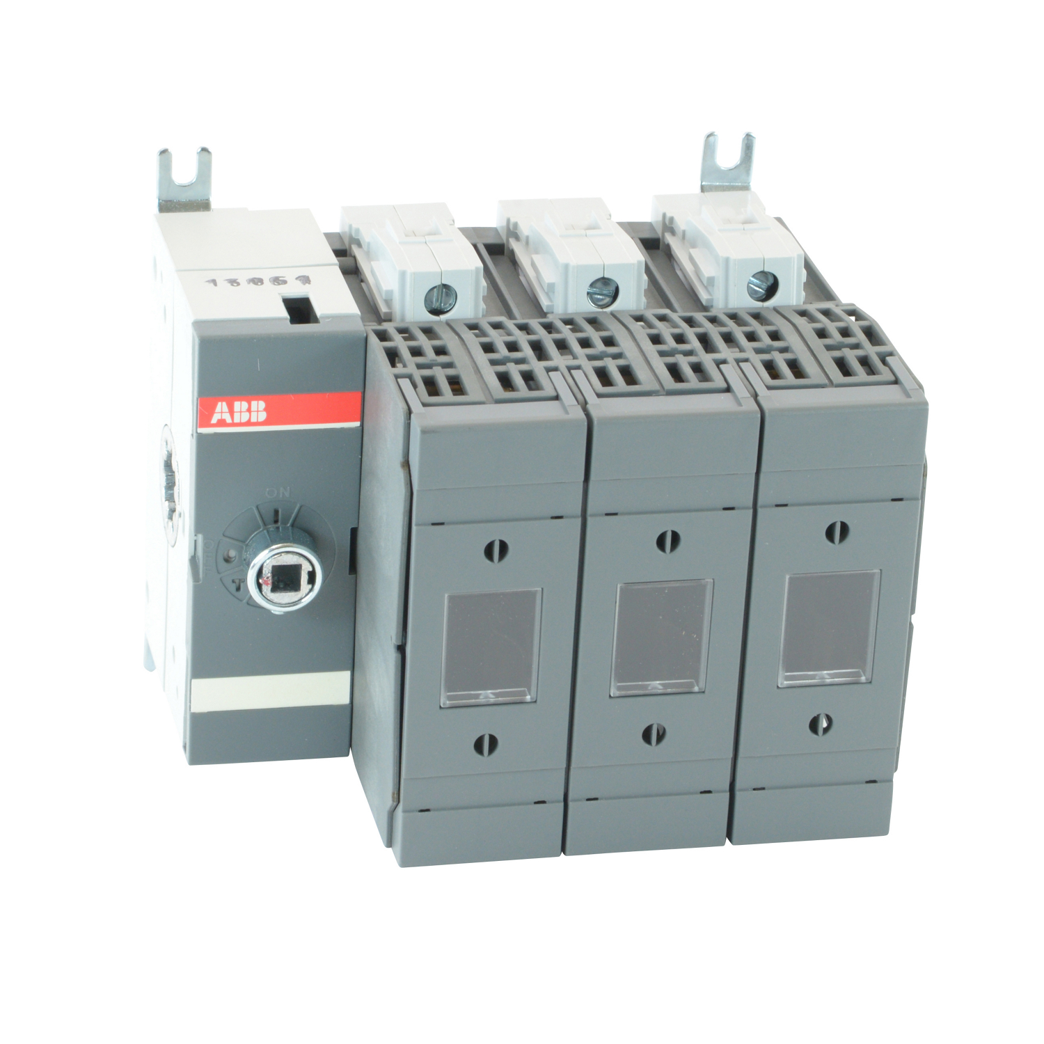 OS60GJ03 ABB 3POLE 60A CLASS J FUSIBLE DISCONNECT SWITCH; ALL POLES TO RIGHT OF MECHANISM