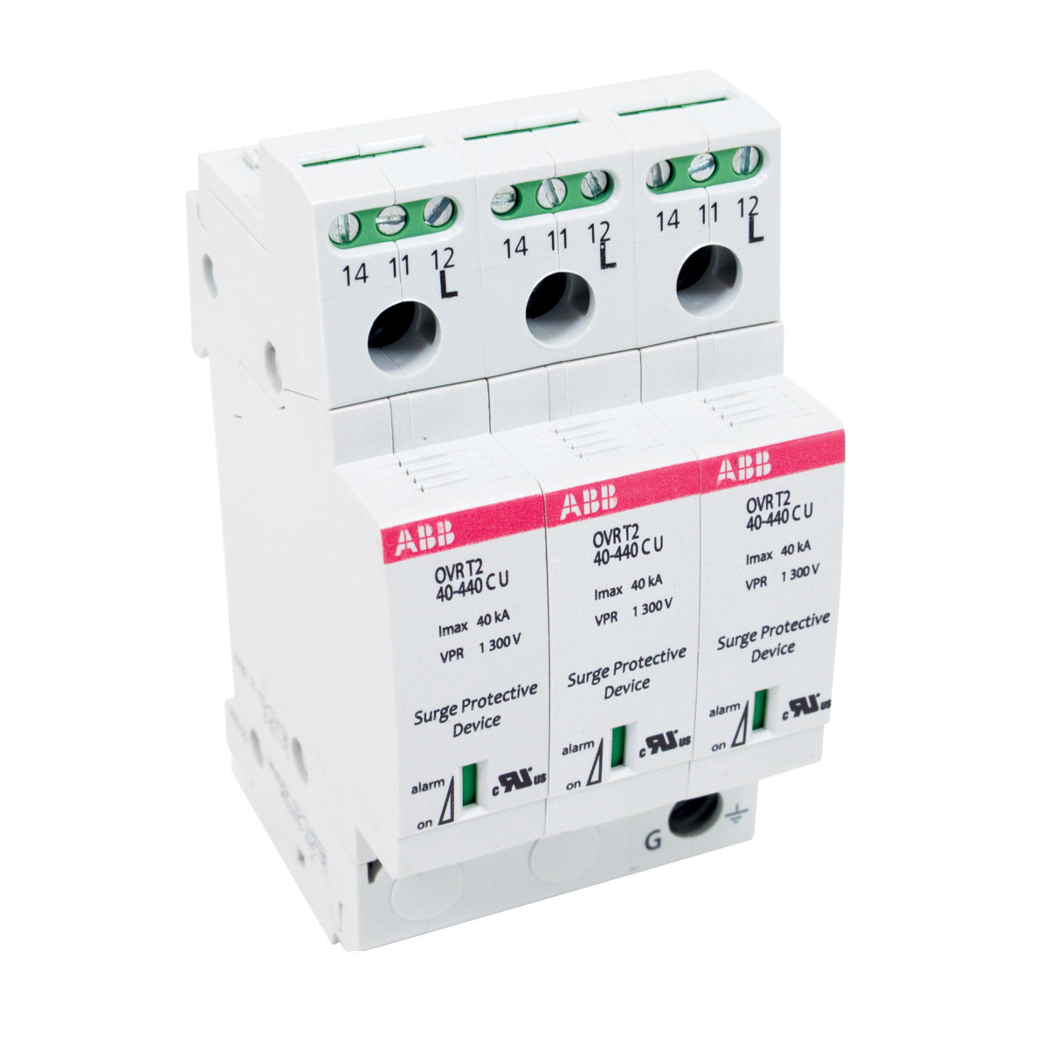 Abb Molded Case Circuit Breakers Standard Electric Supply Current Monitoring Relay Three Pole Ovr Din Rail Surge Protection Device With A Capacity Of 40 Ka And Control Ovrt23l40440ptsu