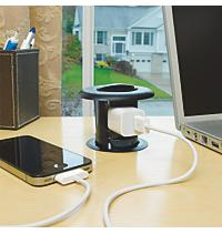 The New Carlon® Retractable Work Surface Receptacle From Thomas U0026 Betts  Places An Electrical Outlet Within Easy Reach To Power A Variety Of Home  And Office ...