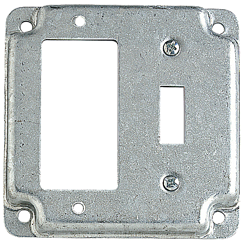 Steel City RS-18-CC 4 in. Steel Square Box Surface Cover