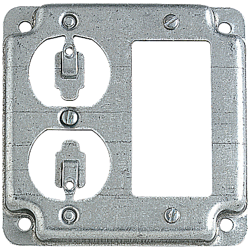 Steel City RS-19-CC Steel City, 4 in. Pre-Galvanized Steel Square Box Cover
