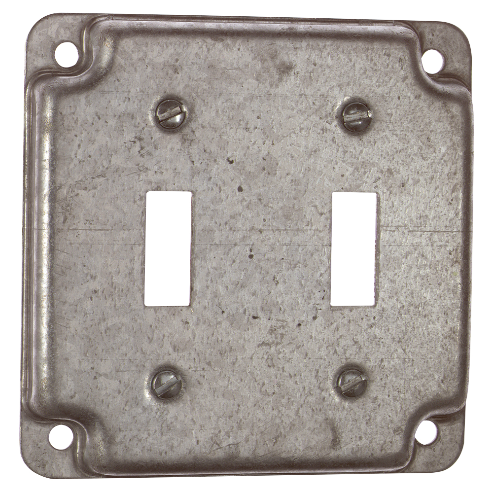 STEEL-CITY RS5 4-IN SQUARE SURFACE COVER 5CU 2-TOGGLE 1/2IN RAISED