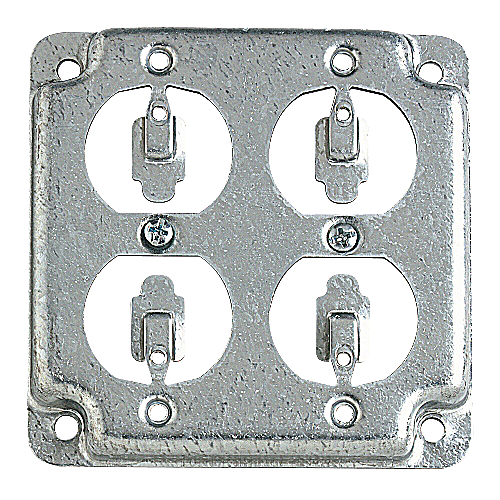 Steel City RS-8 Cover Flush 2 Duplex Receptacle