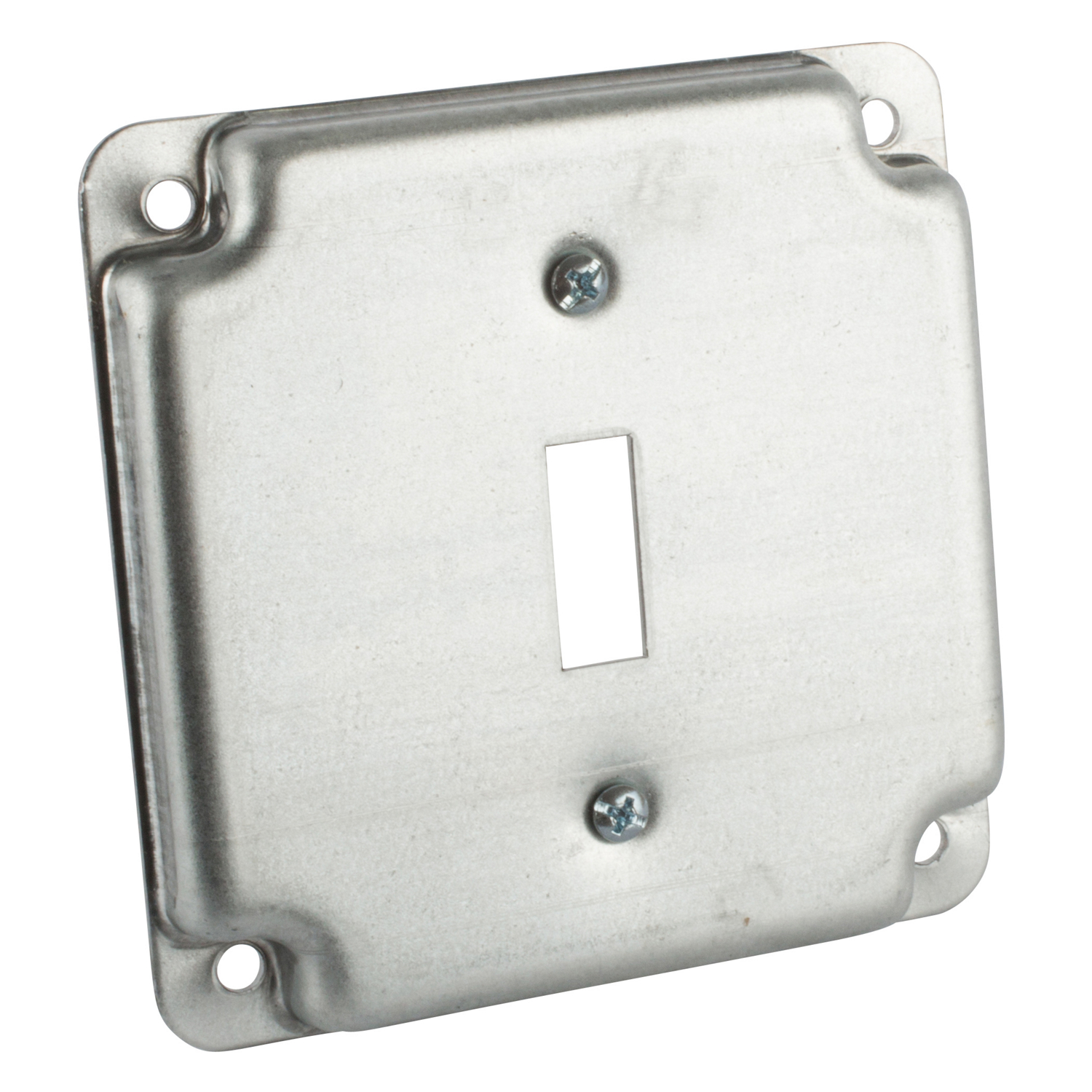 STEEL-CITY RS9 4-IN SQUARE SURFACE COVER 5CU 1-TOGGLE, 1/2IN DEEP