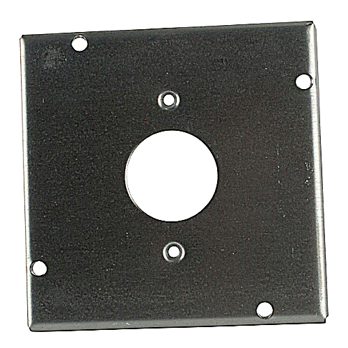 Steel City RSL-11 4 11/16 in. Square Surface Cover for Single Flush Receptacle, 1/2 in. Deep