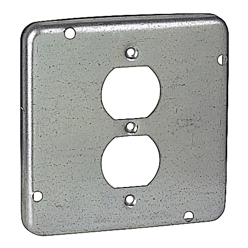 Steel City RSL-12 4-11/16 in. Square Box Surface Cover, Pre-Galvanized Steel, 1/2 in. Deep