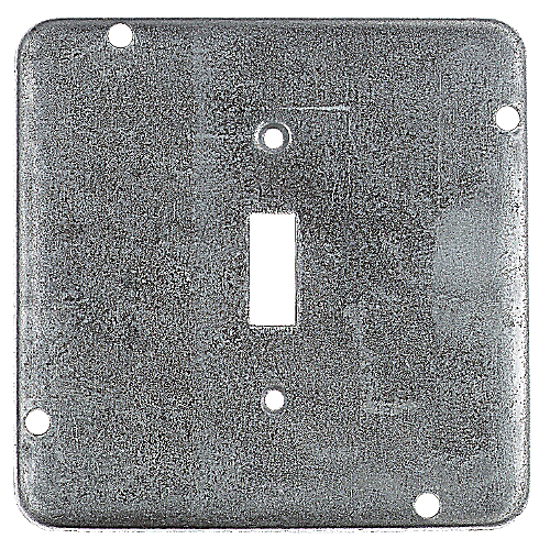 Steel City RSL-9 - 4-11/16 in. Square Box Cover - 1 Toggle Switch