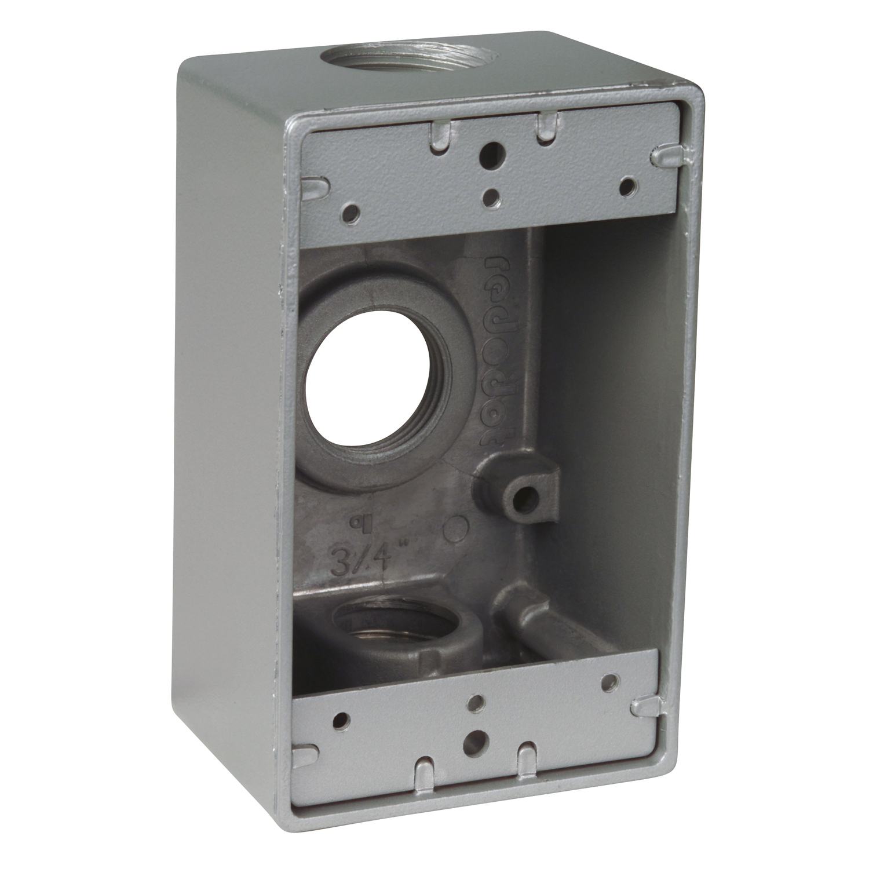 "R-DOT S105CN OUTDOOR RECT BOX3X3/4"" H"