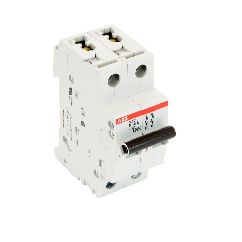 Thomas & Betts S202-K16 2-Pole K Curve 16 Amp 480 Y/277 VAC Miniature Circuit Breaker