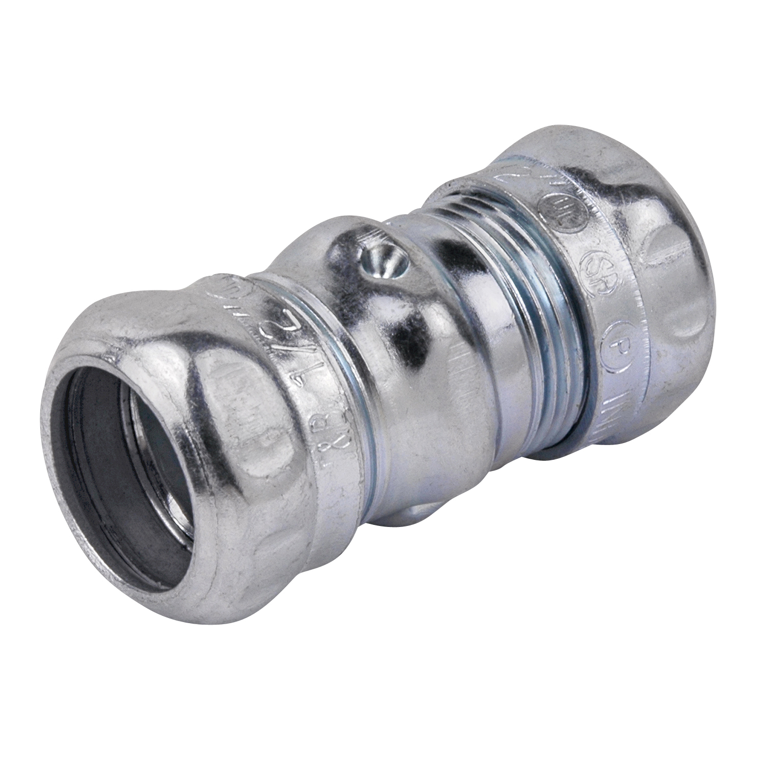 STCTK111A 1/2 INCH COMPRESSION COUPLING, STEEL-ZINC PLATED, CONCRETE TIGHT. FOR USE WITH EMT CONDUIT., STEEL CITY