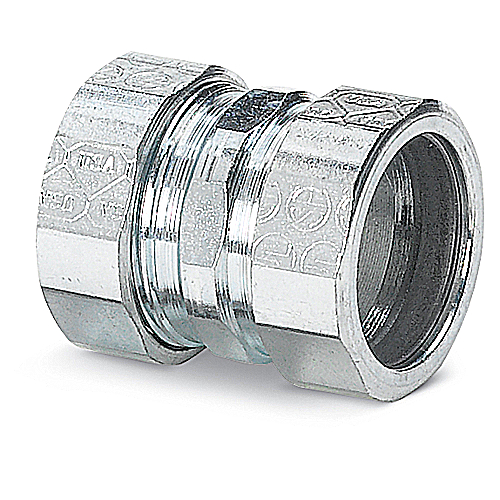 Steel City TK113US 1 in. Compression Coupling, Steel-Zinc Plated, Concrete Tight