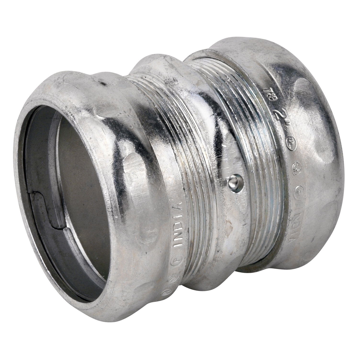 STCTK116A 2 INCH COMPRESSION COUPLING, STEEL-ZINC PLATED, CONCRETE TIGHT. FOR USE WITH EMT CONDUIT., STEEL CITY