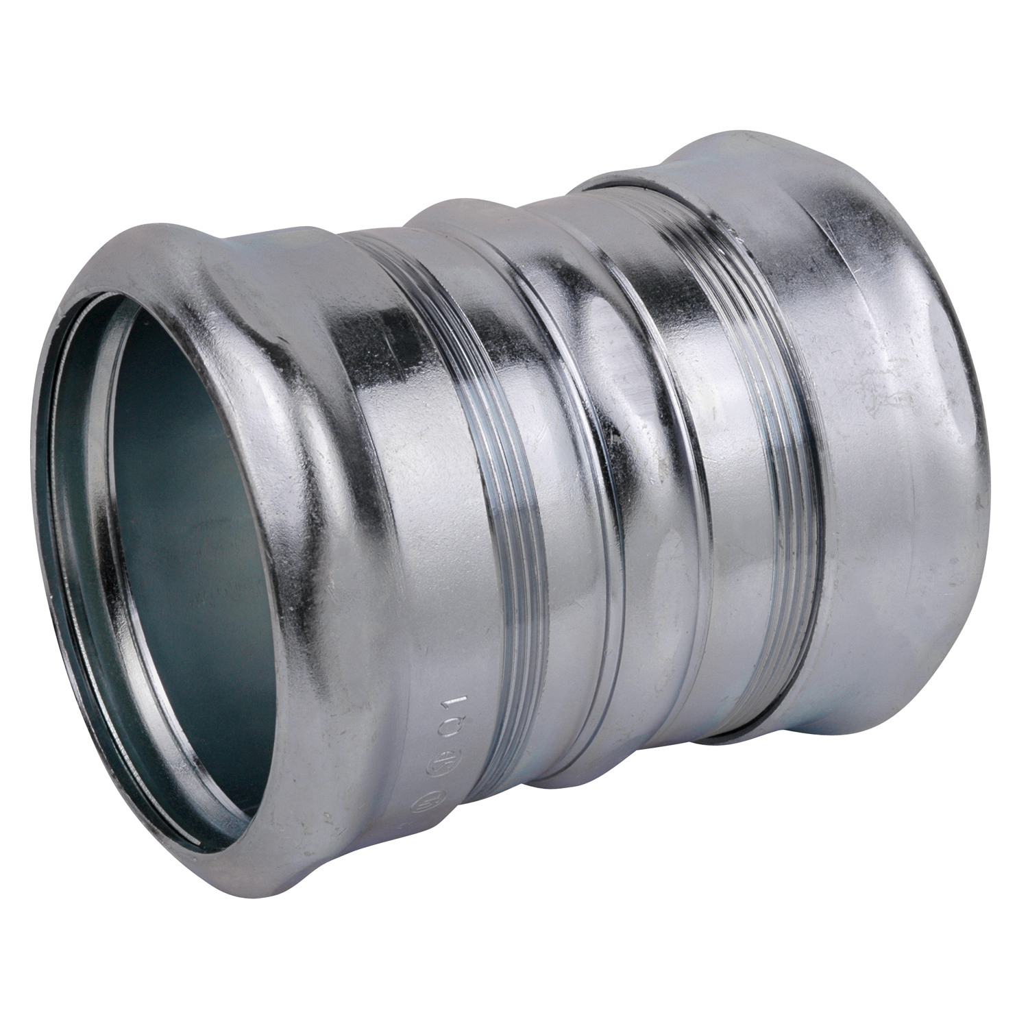STCTK118A 3 INCH COMPRESSION COUPLING, STEEL-ZINC PLATED, CONCRETE TIGHT. FOR USE WITH EMT CONDUIT., STEEL CITY