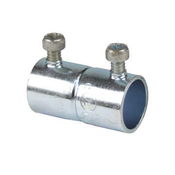STCTK122A 3/4 INCH SET SCREW COUPLING, STEEL-ZINC PLATED, CONCRETE TIGHT WHEN TAPED. FOR USE WITH EMT CONDUIT., STEEL CITY