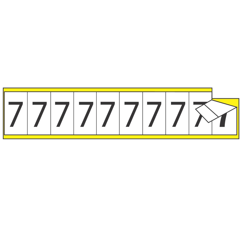 VNYL CTH IND MKR 7/8X1-1/2 10/C L 3