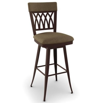 Amisco Oxford 26 Inch Swivel Counter Stool