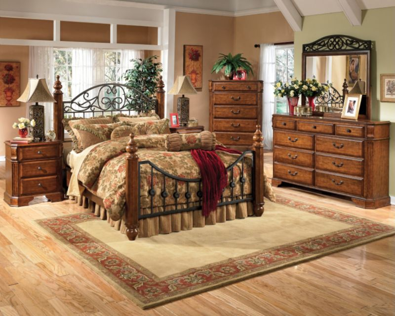 Signature Design by Ashley Woodhaven 5 Piece Bedroom Set with 2nd ...