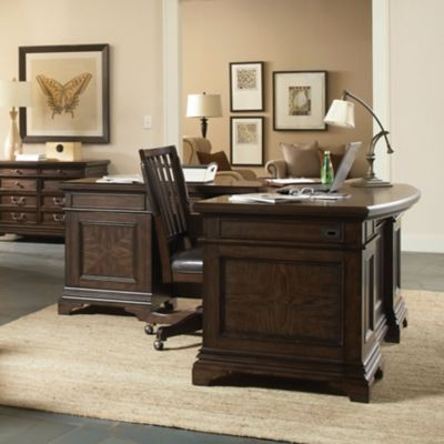 Mouse over image for a closer look. aspenhome Essex 66 Inch Curved Executive Desk and Reversible Return
