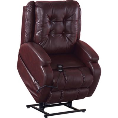 Catnapper jenson power lift lay flat recliner in burgundy with dual motor - Catnapper lift chairs recliners ...