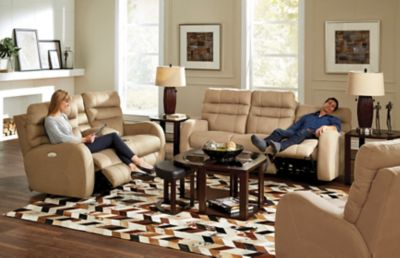 Catnapper Kelsey Power Lay Flat Reclining Sofa With Power
