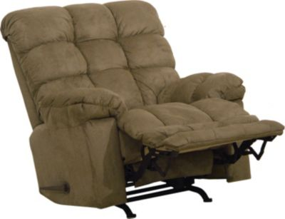 Catnapper magnum chaise rocker recliner in sage for Catnapper magnum chaise recliner