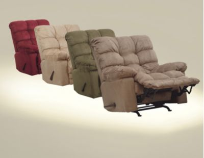 Catnapper magnum chaise rocker recliner in merlot for Catnapper magnum chaise recliner