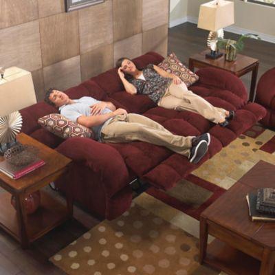 Catnapper Siesta Lay Flat Reclining Sofa In Wine With