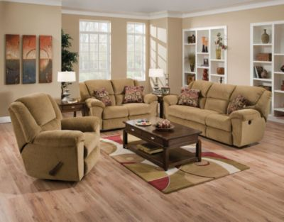 ... Living Room Set in Beige. Mouse over image for a closer look. - Catnapper Transformer Reclining 3 Piece Living Room Set