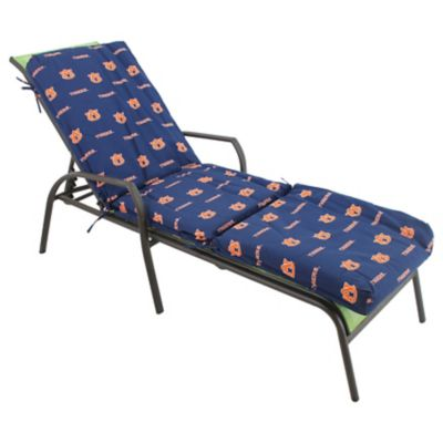 College covers auburn university 3 piece chaise lounge cushion for Chaise cushion covers