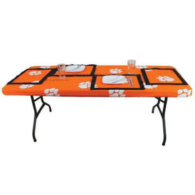 college covers clemson university 8 foot table cover. Black Bedroom Furniture Sets. Home Design Ideas