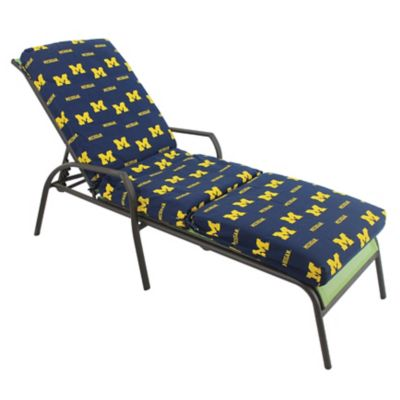 College covers university of michigan 3 piece chaise for Chaise lounge cushion cover