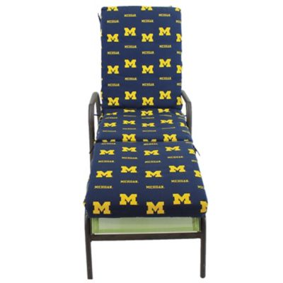 College covers university of michigan 3 piece chaise for Chaise lounge cushion covers