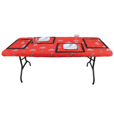 College covers ohio state university state 6 foot table cover for Table 6 ohio