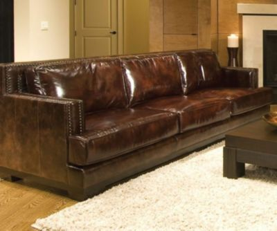 Awesome ... Leather Sofa In Saddle. Mouse Over Image For A Closer Look.