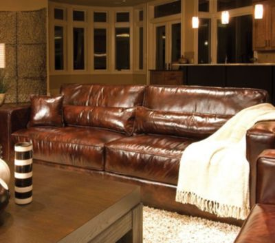 Perfect ... Leather Sofa In Saddle. Mouse Over Image For A Closer Look.