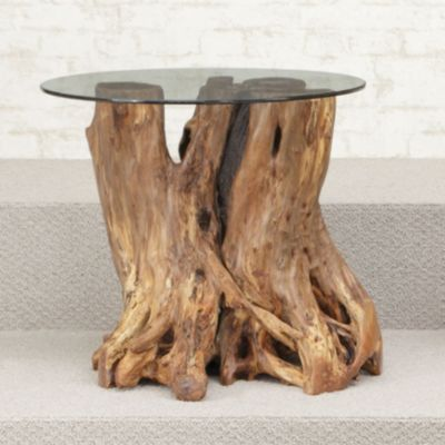 ... Coffee Tables   Hammary Hidden Treasures Root Ball End Table. Mouse  Over Image For A Closer Look.