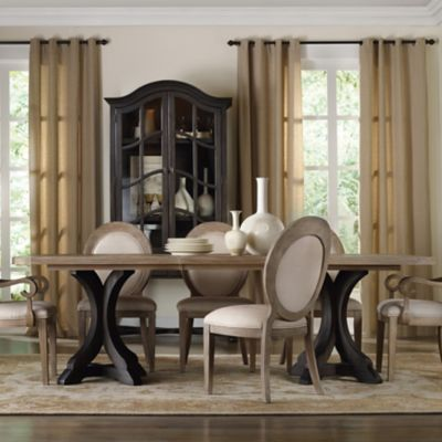 hooker furniture corsica rectangle dining table in two tone finish