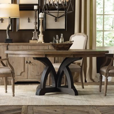 Hooker Furniture Corsica Round Dining Table In Two Tone Finish - Hooker dining tables