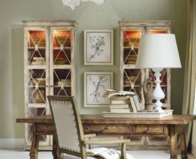 Hooker Furniture Sanctuary 2 Door Thin Display Cabinet In Dune