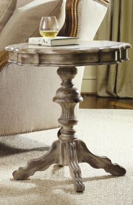 Hooker Furniture Sanctuary Round Pedestal Accent Table