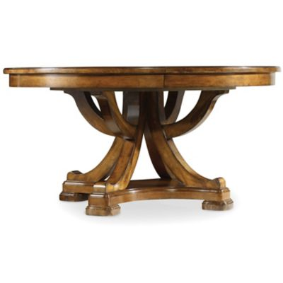 Hooker furniture tynecastle 60 inch round pedestal dining for 60 inch round dining table